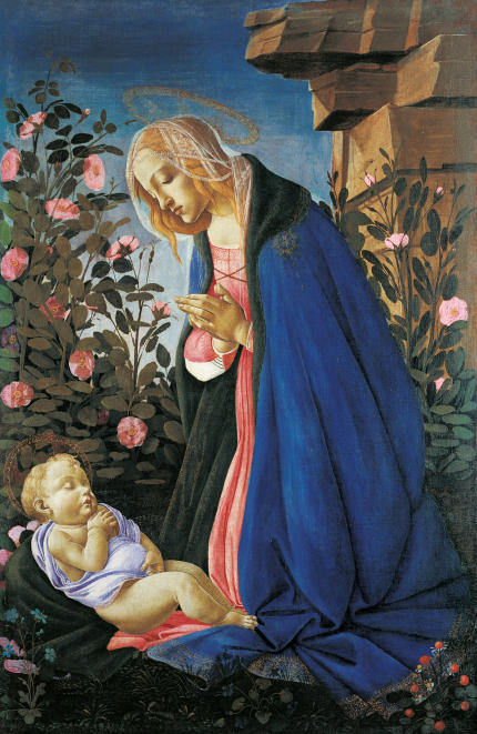 0_Botticelli_Maria_das_Kind_anbetend_Edinburgh-430