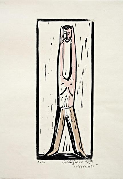 12-B Greiner-Selbstsucht Holzschnitt