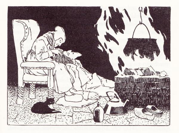 Der Teufel mit den drei goldenen Haaren Ill. von Otto Ubbelohde
