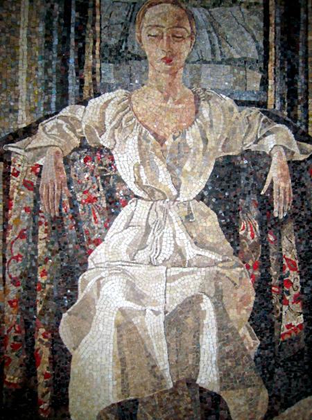 Friaul Frau aus Mosaiksteinchen