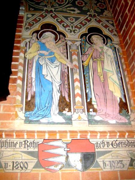 Heiligengrabe Wandmalerei + Aebtissinnenname