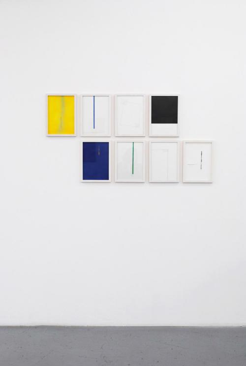 Installationsansicht, Papierarbeiten, 2015 - 2016, 30 x 20 cm