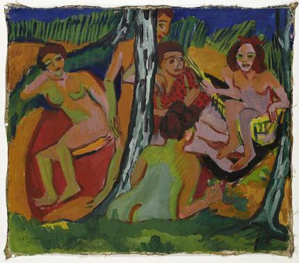 Kirchner_Szene_im_Wald_1910-430