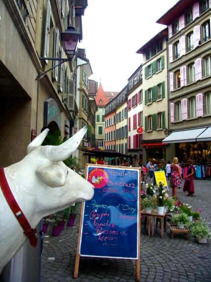 Kuh_Rue_de_Bourg_Lausanne_2013_07_10_Foto_Elke_Backert-430