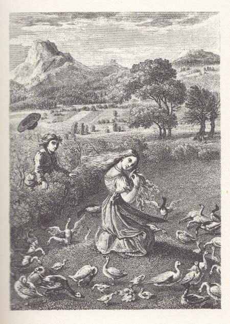 Ludwig Emil Grimm (1825) Illustration zu Die Gänsemagd