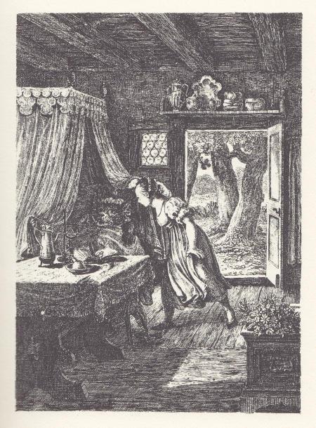 Ludwig Emil Grimm (1825) Illustration zu Rotkäppchen und der Wolf