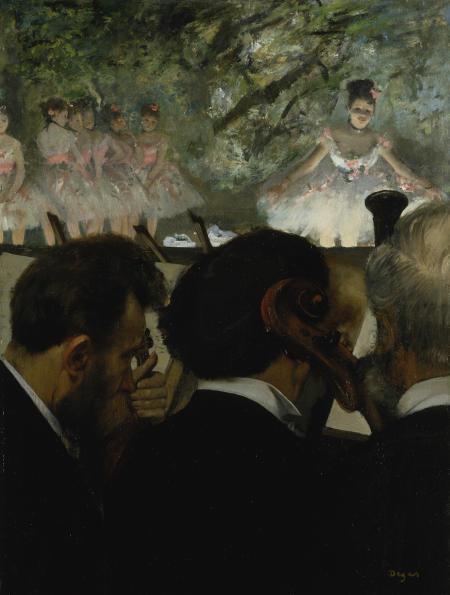 Musiciens à l'Orchestre. 1872