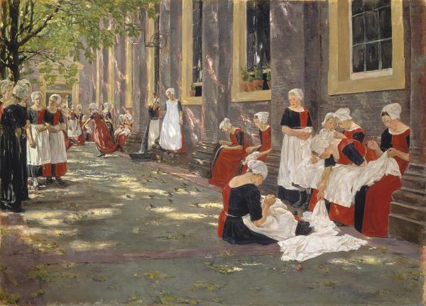 Freistunde im Amsterdamer Waisenhaus. 1881/1882