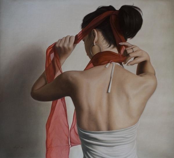 Rueckenansicht III 2008, oil on canvas , 100 x 110 cm