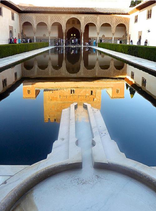 Spiegelung Patio des los Arrayanes Alhambra 2015-11-07 Foto Elke Backert-500