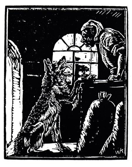 Walter Klemm Ill. zu Der Wolf und die sieben Geißlein