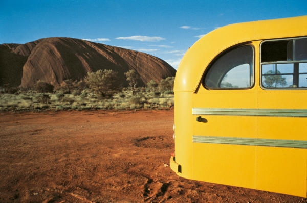 Wim Wenders Yellow Bus, Uluru 1977 C-Print 124 x 163 cm
