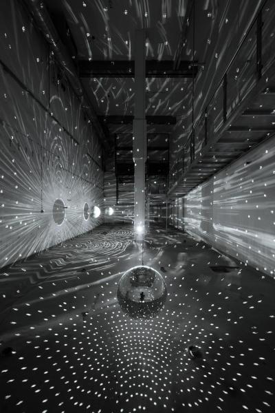 Das Zentrum für internationale Lichtkunst Unna am 25. Juli 2012