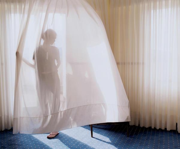 Aino Kannisto, Untitled (Translucent Curtain), 2002 C-Print, Aluminium
