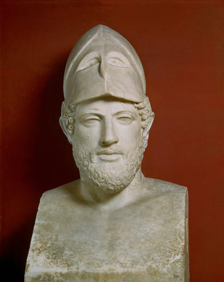 Roman art: Herm of Pericles. Vatican, Museo Pio-Clementino*** Permission for usage must be provided in writing from Scala.