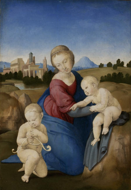 Raffaello Santi, called Raphael 1508 Tempera and oil on panel 28.5x21.5 cm